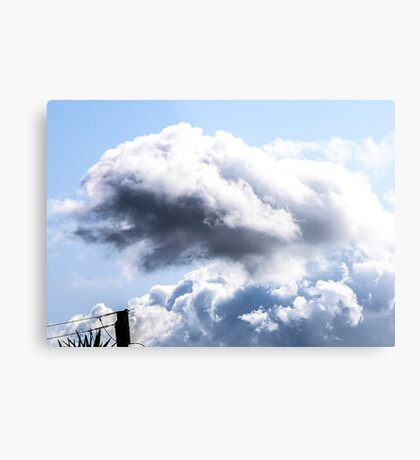 CLOUDS OVER THE PDC 1 Metal Print
