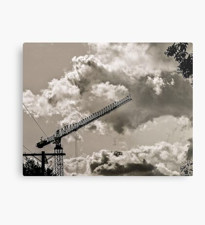 CLOUDS OVER THE PDC 3 Metal Print