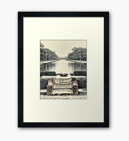 Peace Flame - Lumbini Garden Framed Print