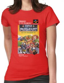Super Mario Kart Nintendo Super Famicom Japanese Box Art Shirt (SNES) Womens Fitted T-Shirt