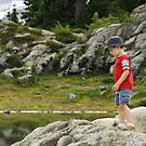 A Young Hiker's Contemplation by Tracy Friesen