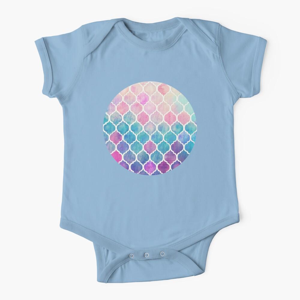 Rainbow Pastel Watercolor Marroquí Patrón Body para bebé