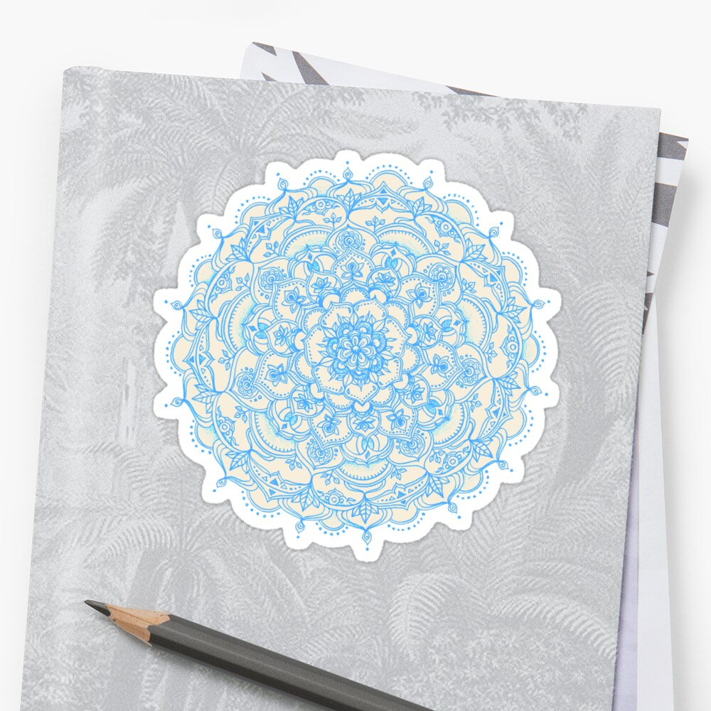 light blue lace mandala - photo #18