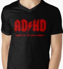 ADHD Highway to Hey! Men's V-Neck T-Shirt