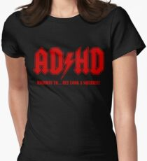 ADHD Highway to Hey! Womens Fitted T-Shirt