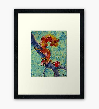 Morning Squirrel Framed Print