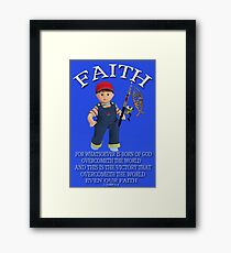 <º))))>< FAITH BIBLICAL CHILDS PICTURE AND OR CARD<º))))><      Framed Print