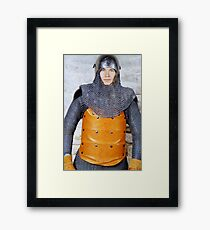 Medieval Soldier in Armour Framed Print