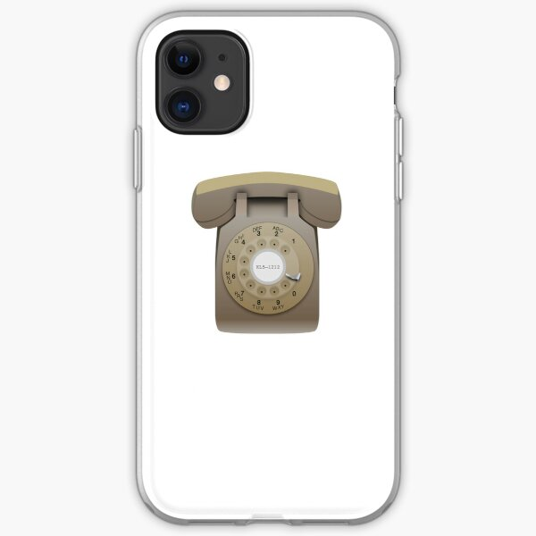 Rotary Phone (beige on white) iPhone Soft Case