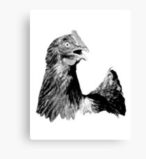 Rooster Digital Engraving. Farm Animal Images and Prints. Canvas Print