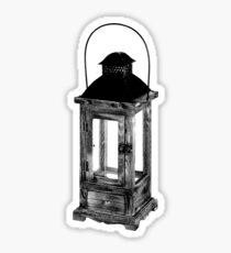 Antique Vintage Lantern Digital Engraving Image Sticker