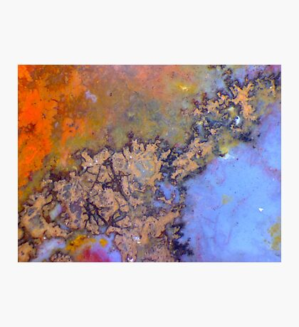 Crinkly Bits (Plume Agate) Photographic Print