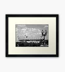 MCG & Lamppost - B&W Framed Print