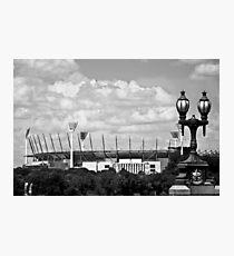 MCG & Lamppost - B&W Photographic Print