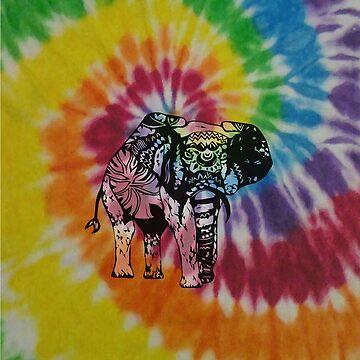 tie dye elephant hippie case by objThom