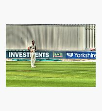 Cricketer Photographic Print