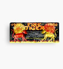 1986 2046 Chinese zodiac born as Fire Tiger by Valxart.com Canvas Print