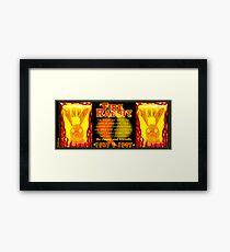 1927 1987 Chinese zodiac born Fire rabbit by Valxart.com  Framed Print