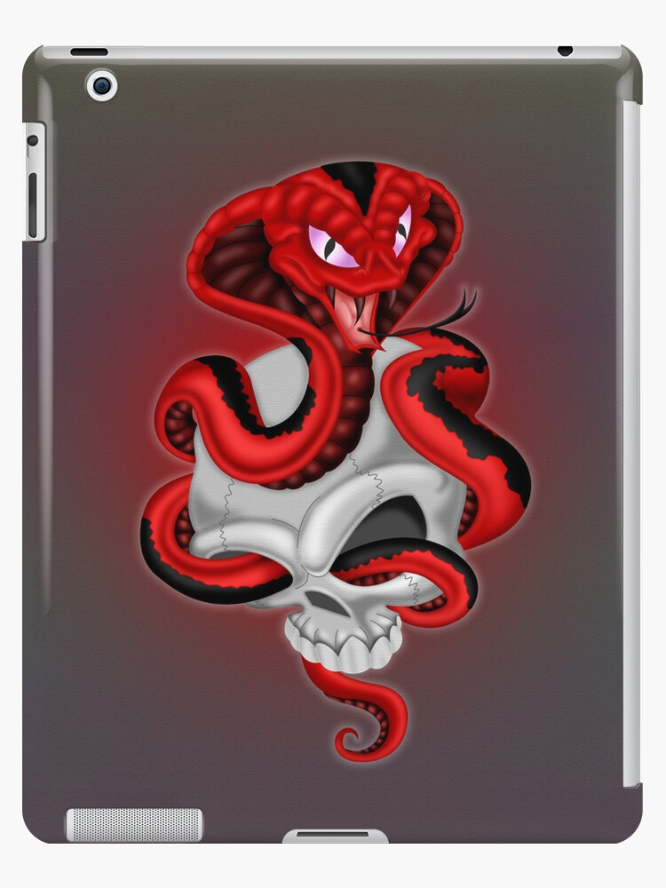 Cobra and Skull .. iPad case by LoneAngel