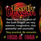 1928 1988 Chinese zodiac born in year of Earth Dragon  by Valxart