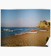 Late afternoon on Tsilivi beach Poster