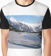Bachalpesee with Fiescherhornen in the background, Switzerland Graphic T-Shirt