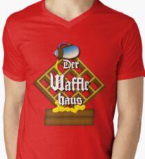 Der Waffle Haus Mens V-Neck T-Shirt