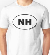 New Hampshire NH Euro Oval Sticker T-Shirt