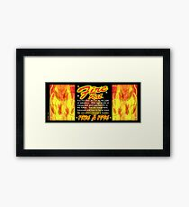1936 1996 Chinese zodiac born in year of Fire Rat by valxart Framed Print