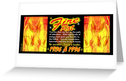 1936 1996 Chinese zodiac born in year of Fire Rat by valxart by Valxart