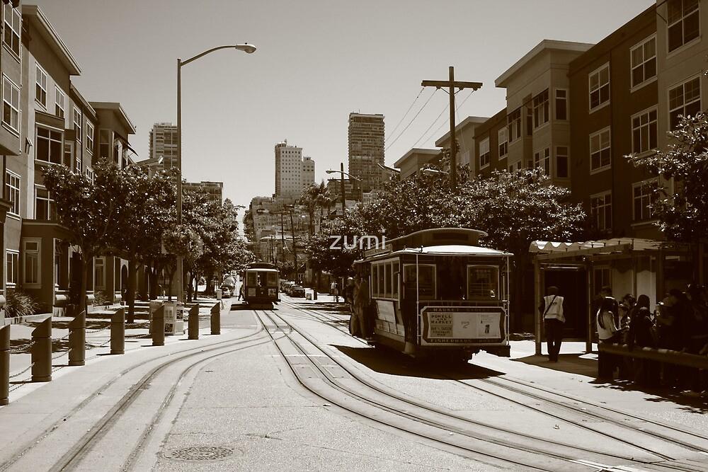 Tram and tramway by zumi