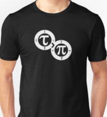 Tau vs Pi (dark) Unisex T-Shirt