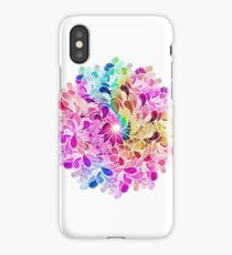Rainbow Watercolor Paisley Flower iPhone Case/Skin