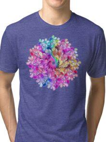 Rainbow Watercolor Paisley Flower Tri-blend T-Shirt