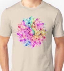 Rainbow Watercolor Paisley Flower T-Shirt