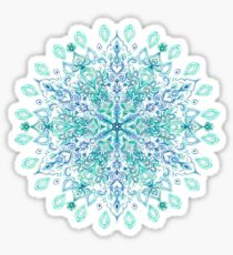 Peppermint Snowflake on Cream Sticker