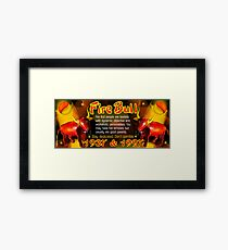 1937 1997  Chinese zodiac born in year of Fire Bull by valxart.com Framed Print