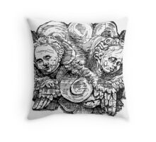Charlieau Abbey Cherubs Throw Pillow
