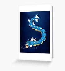 Blue Gyarados Greeting Card
