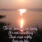 Peace Is An Irony by DiamanteLavenda