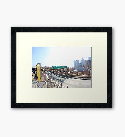 pbbyc - Brooklyn Bridge, NYC Framed Print