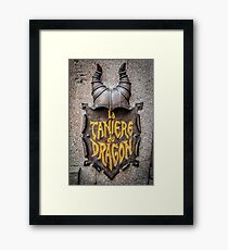 La Caniere du Dragon Framed Print
