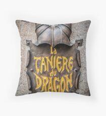 La Caniere du Dragon Throw Pillow