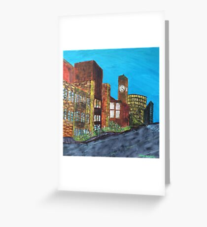 In Town - Newcastle Greeting Card