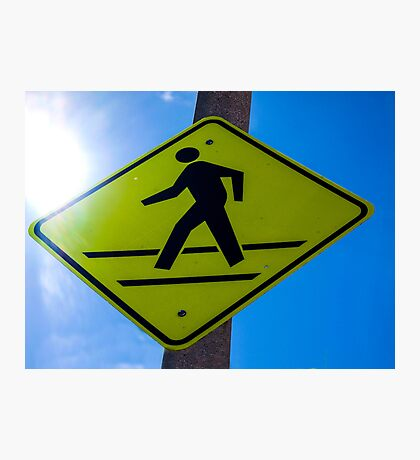 Cross Walk Sign in WEHO Photographic Print