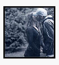 A Kiss In The Rain Photographic Print