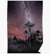 Milky Way over Boomers Bay  Poster