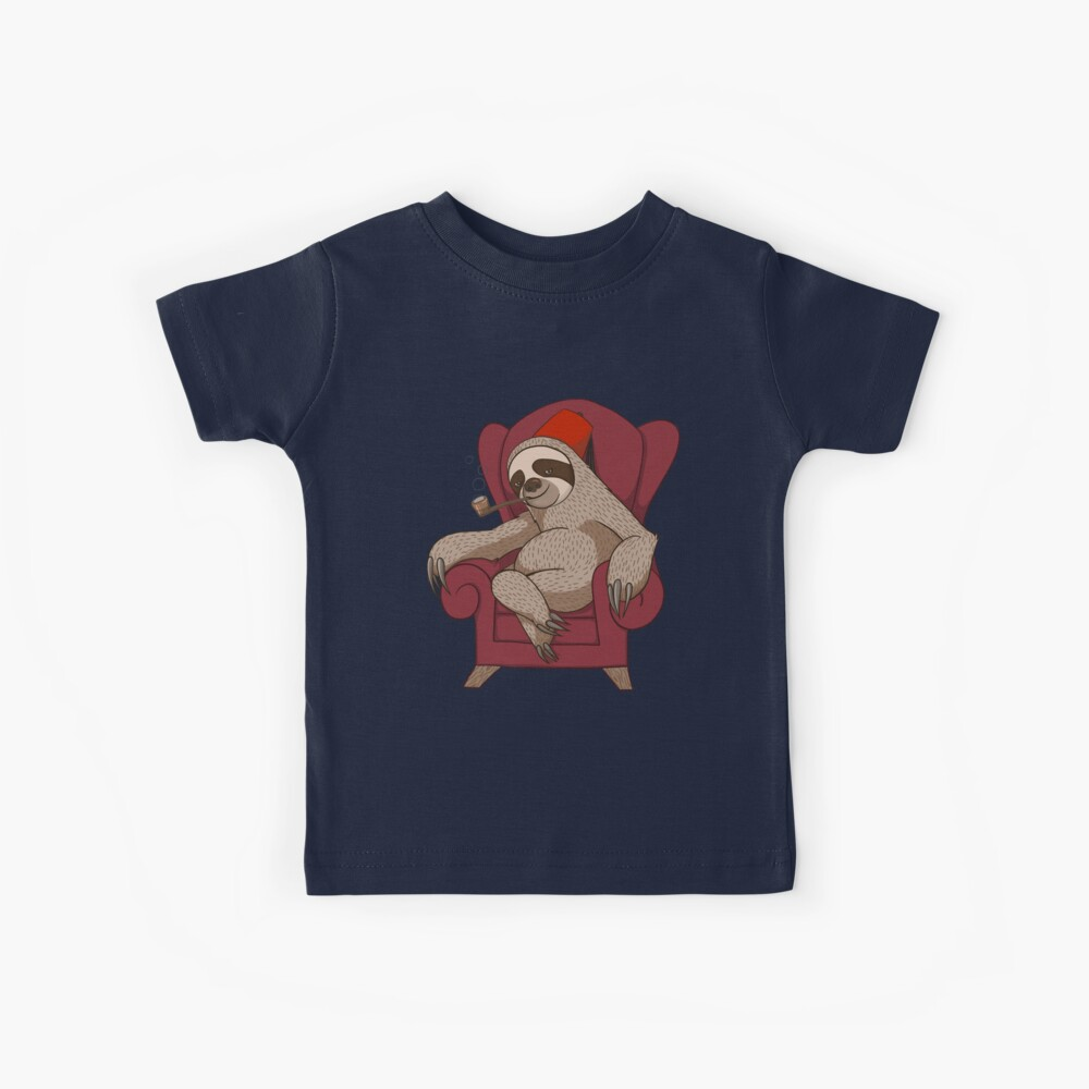 Sophisticated Sloth Kids T-Shirt