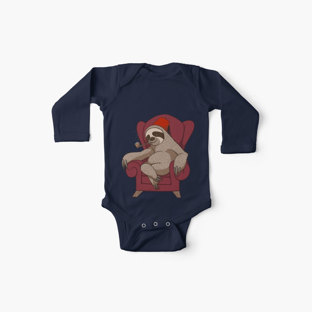 Sophisticated Sloth Baby One-Pieces