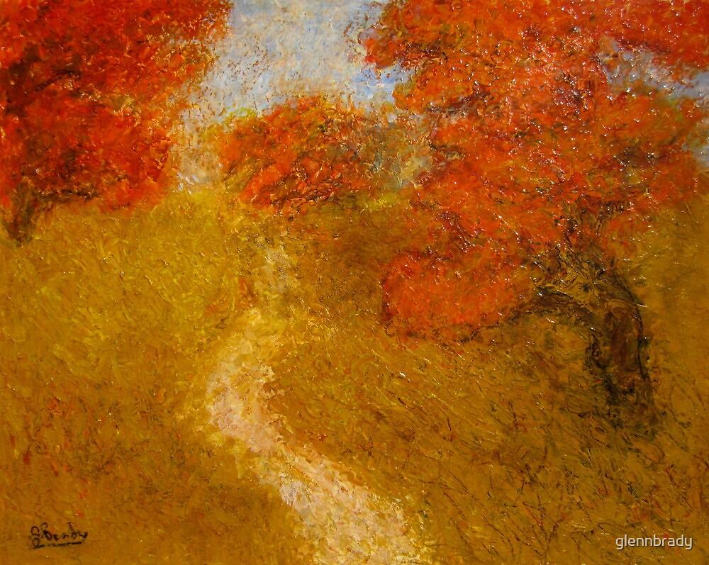 poincianas and path by glennbrady